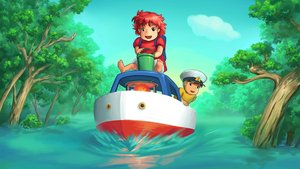 Смотреть фильм «Рыбка Поньо на утесе» онлайн