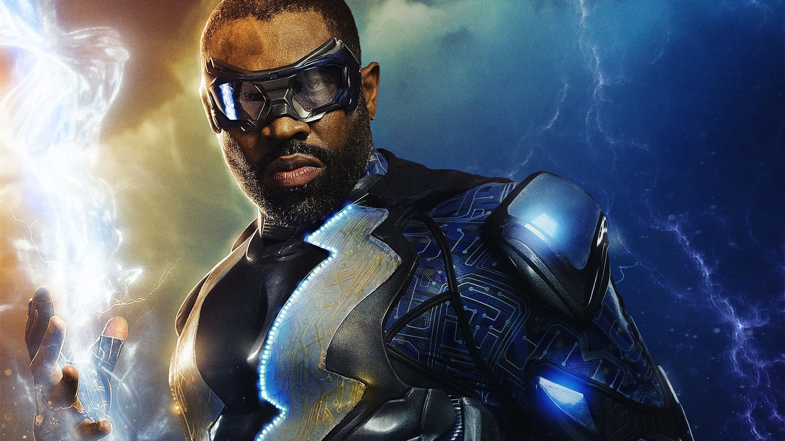 Черная молния/Black Lightning background