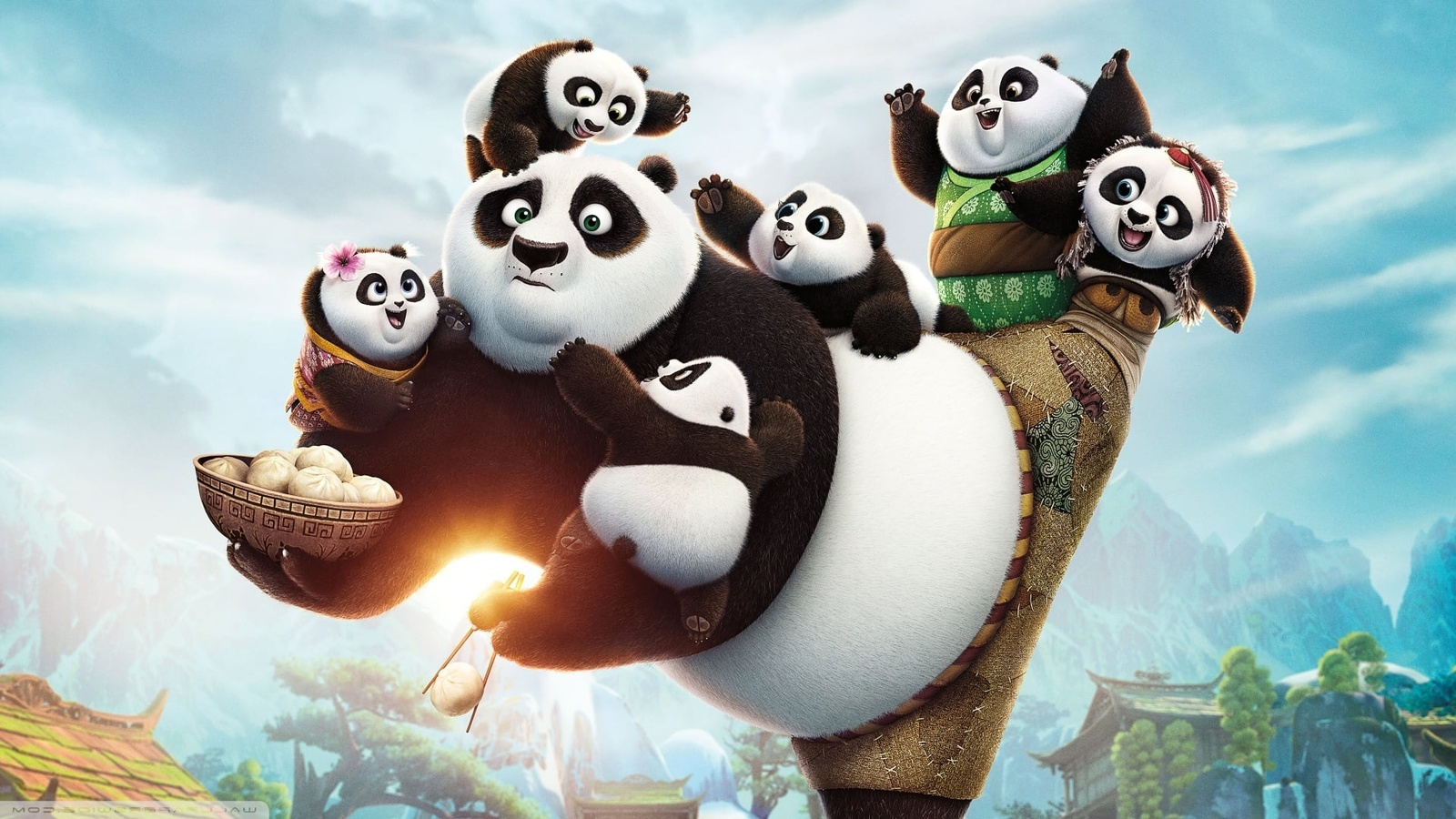 Кунг-фу Панда 3 / Kung Fu Panda 3 background