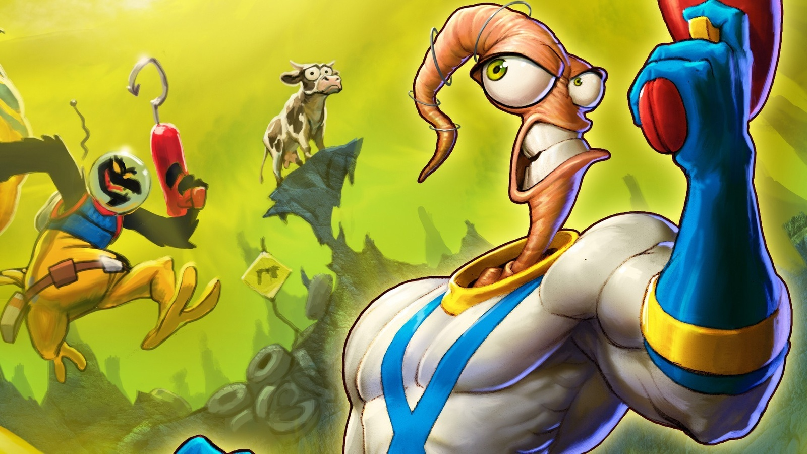Червяк Джим/Earthworm Jim background