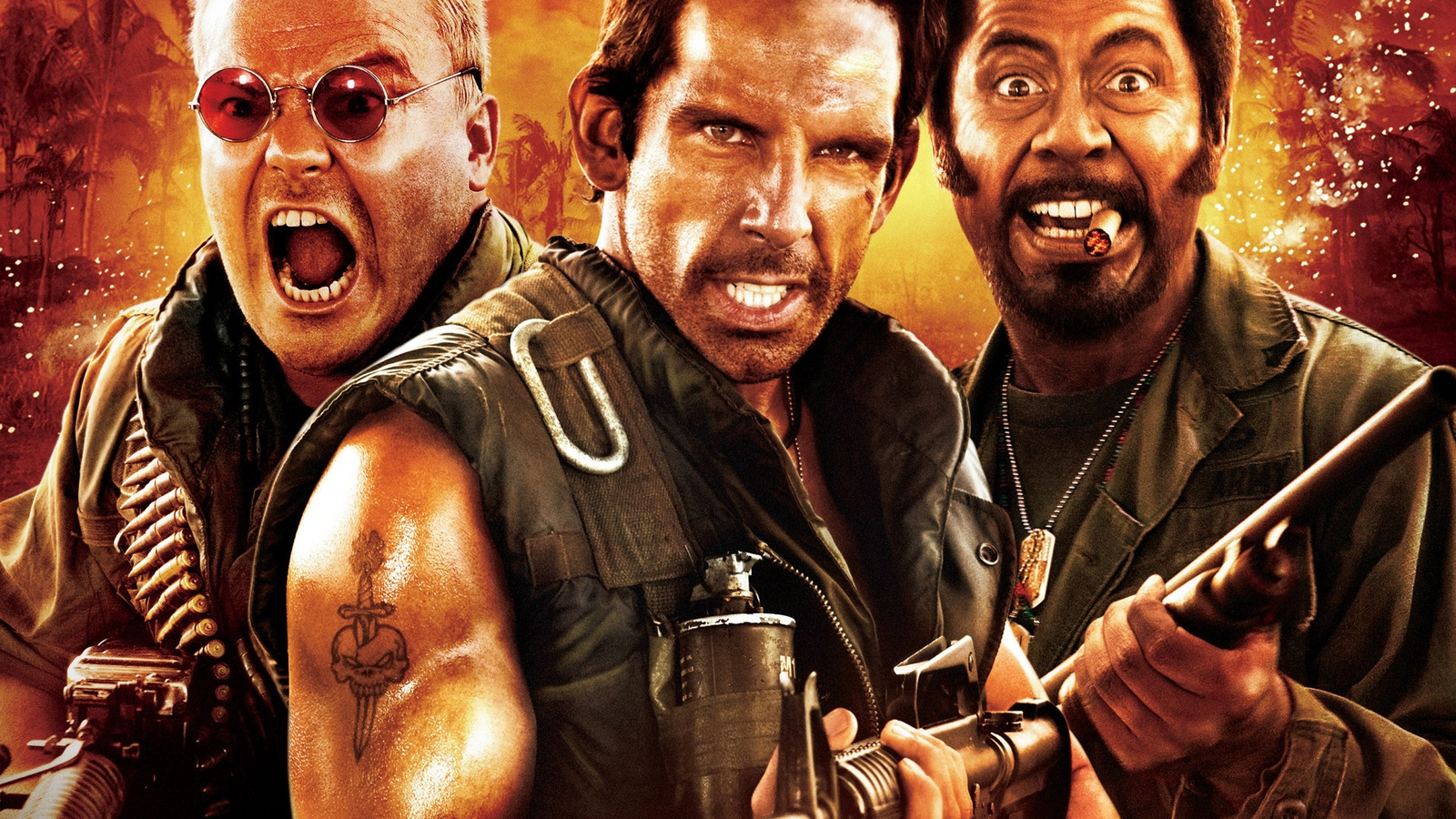 Солдаты неудачи / Tropic Thunder background