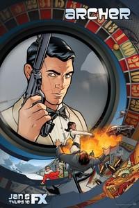 Постер мульт-сериала «Арчер»